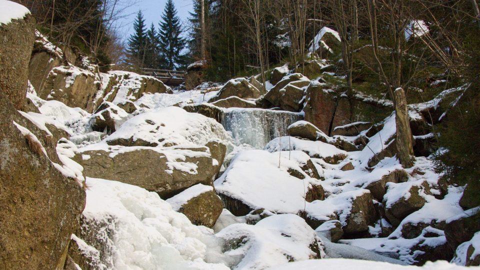 Ledopády v údolí Velkého Štolpichu