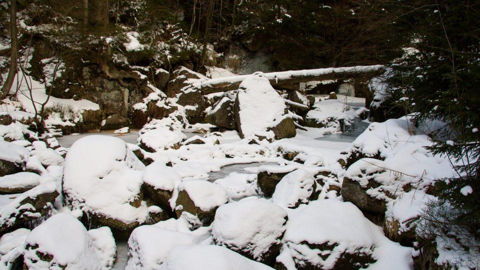 Nad vodopádem Velký Štolpich