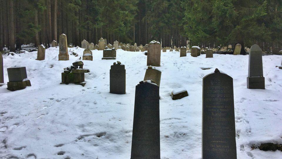 Dnes je tu asi 240 náhrobků