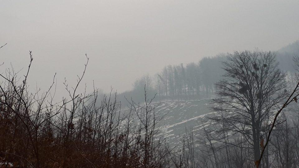 Starý lom zvaný Siberia. Zde se původně těžil godulský pískovec