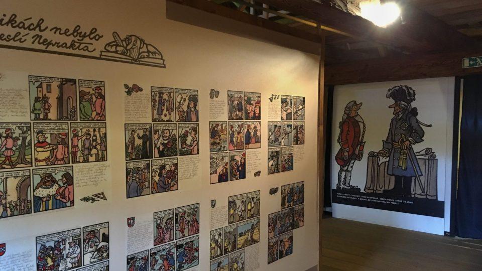 V expozici je zatím asi 750 kreseb