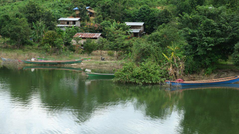 Rybářská osada u nové přehrady