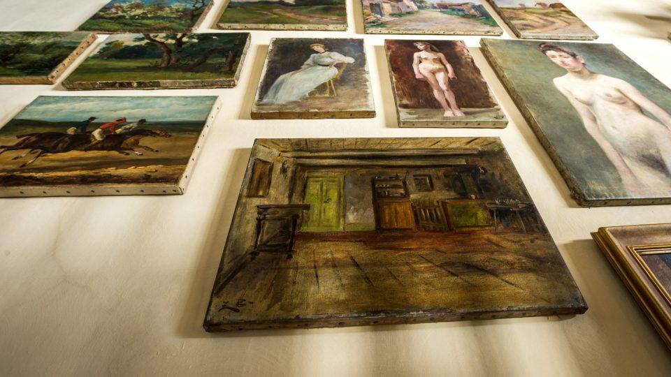 Pohled na obrazy umělkyně
