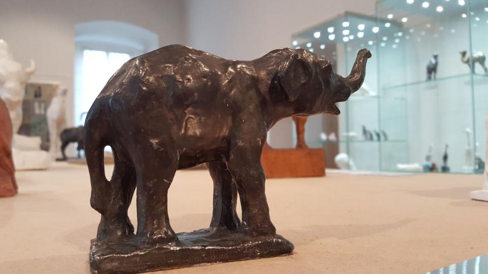 Slon Pepík, kterého si můžete v rámci workshopu odlít ze sádry