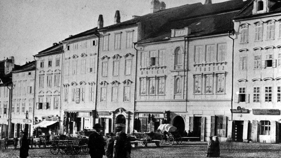Jihlava; Masarykovo náměstí na konci 19. století
