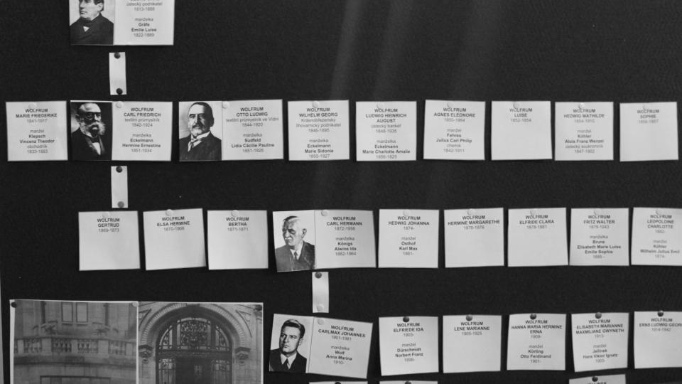 V archivu se našel i rodokmen bývalých majitelů Wolfrumovy vily