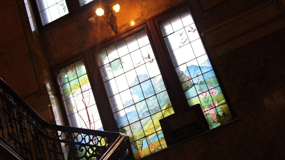 Takový pohled se naskytne návštěvníkům bývalé Wolfrumovy vily