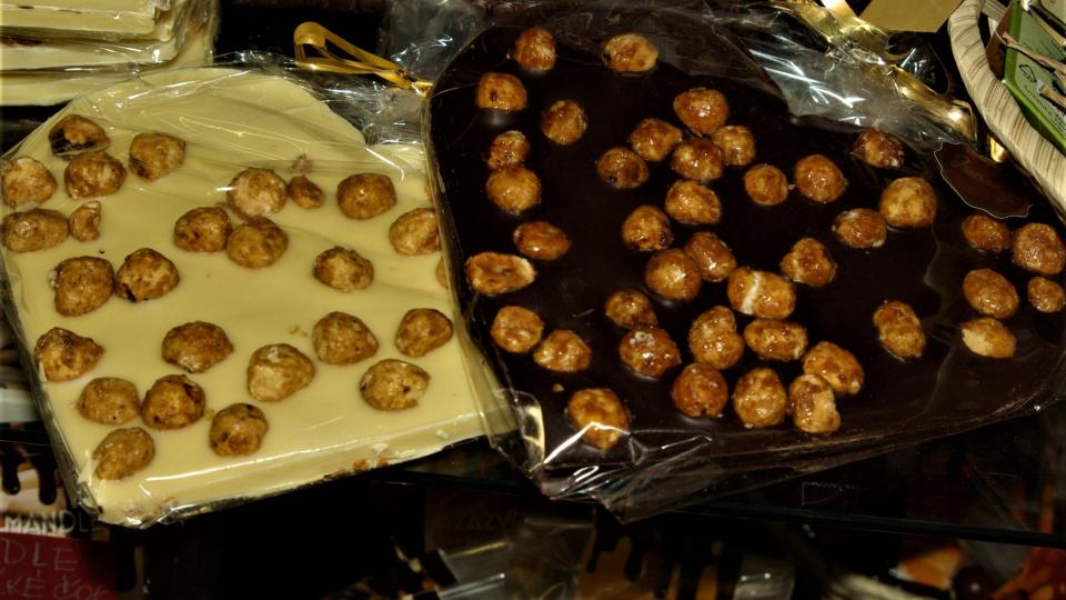 Srdečné čokoládové pozdravení z cukrárny