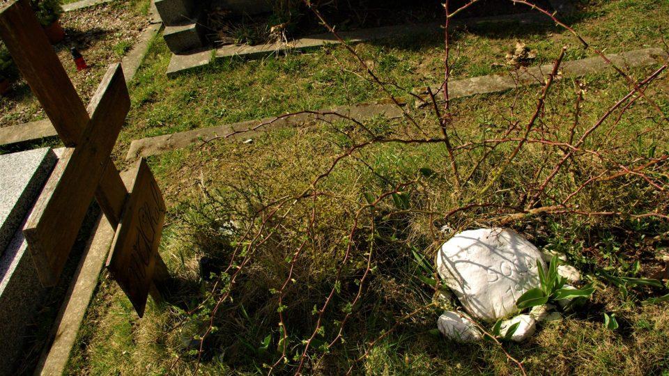 Hrob Josefa Váchala na radimském hřbitově