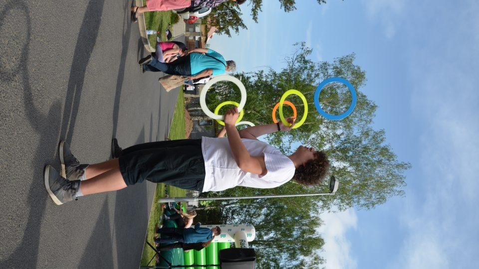 Ukázky žonglování