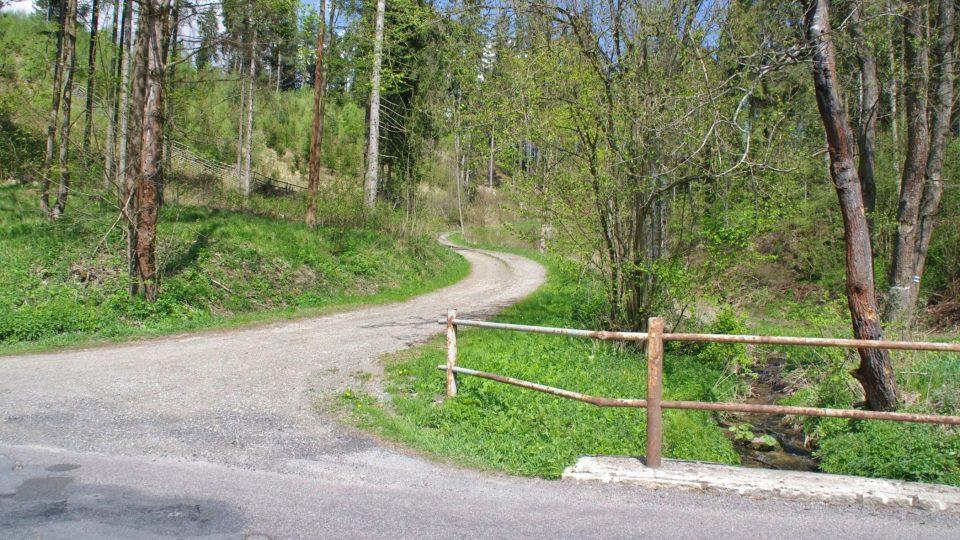 Původní cesta do Valbeřice je dnes používáná hlavně lesníky