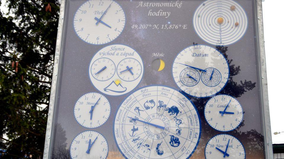Třebíčskou hvězdárnu zdobí i poměrně nové astronomické hodiny, které si mladí astronomové postavili sami