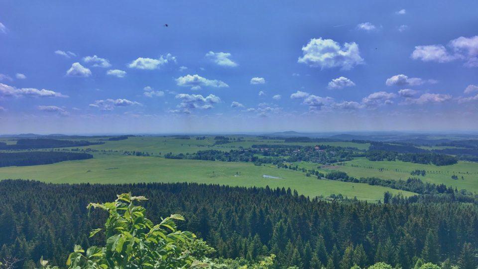 Výhled do kraje je úžasný
