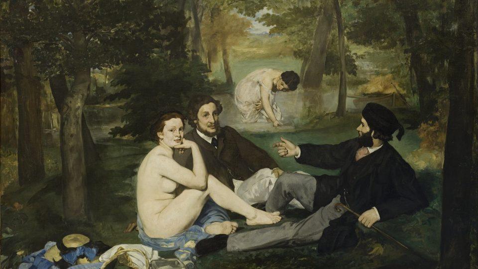Edouard Manet: Snídaně v trávě (olej na plátně, 1863)