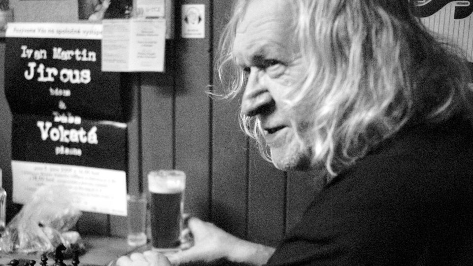 Ivan Martin Jirous, výčep na Oáze, 2009