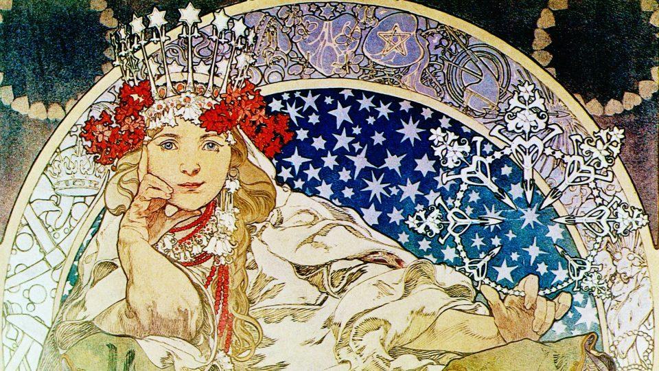 Alfons Mucha: Princezna Hyacinta (1911)