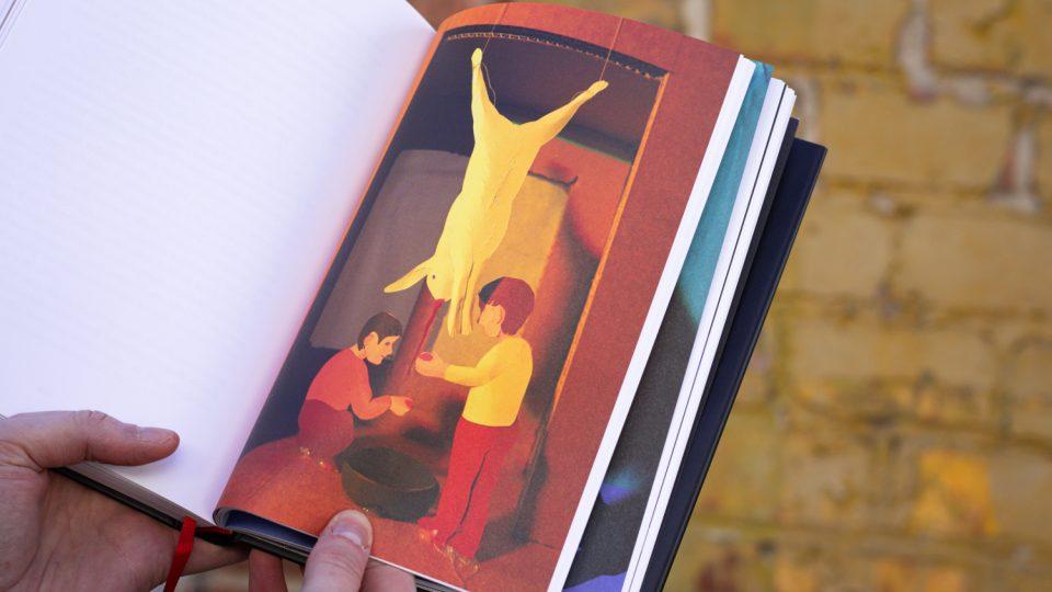 Z knihy Krvavý Bronx. Ilustrace do knihy vytvořil jihlavský výtvarník Jakub Tomáš
