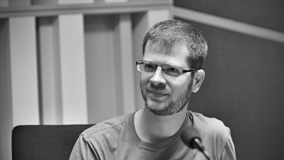 Natáčení zvukové kompozice Hra na uši, Jiří Adámek