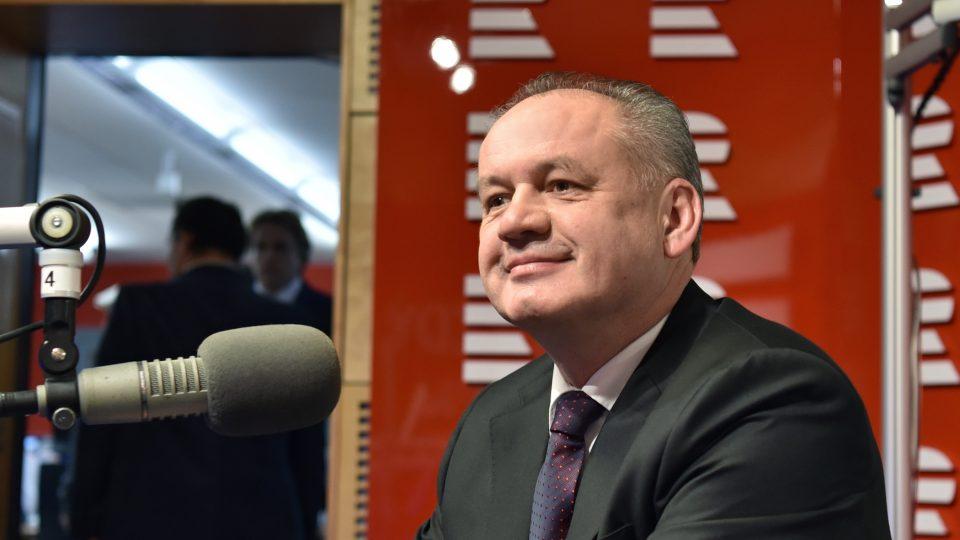 Andrej Kiska v Českém rozhlase
