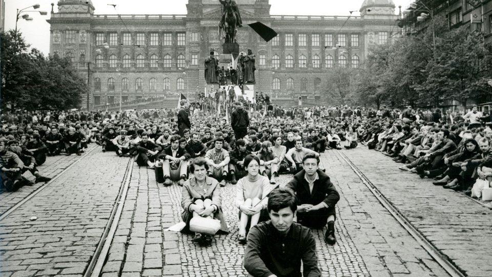 Národní muzeum v době okupace v roce 1968
