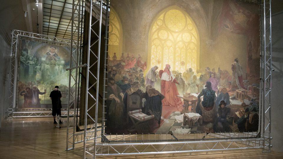 Alfons Mucha, Slovanská epopej, Obecní dům