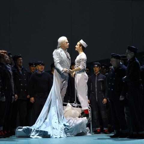 Z inscenace Billy Budd; Štefan Margita, Christopher Bolduc