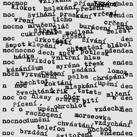 Jiří Kolář: Mezi dnem a nocí (z Básní ticha, 1970, náklad zabaven)