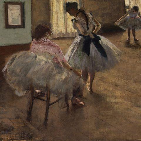 Edgar Degas, Hodina tance (olej na plátně, asi 1879)