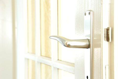 dveře, klika, kování