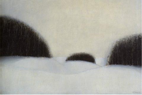 Jiří John: Zima, 1947, olej, plátno