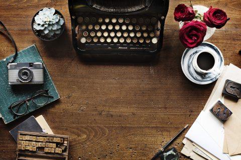 psací stroj, spisovatel, abeceda, redakce