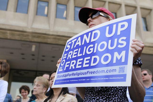 náboženská svoboda - protri potratům