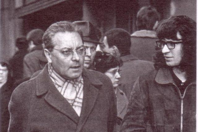 Jindřich Chalupecký  a Ivan Martin Jirous (vpravo)