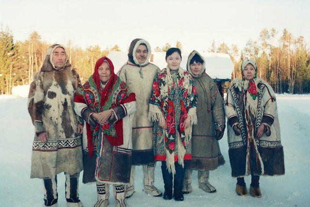 Obyvatelé mansijské osady, Sibiř