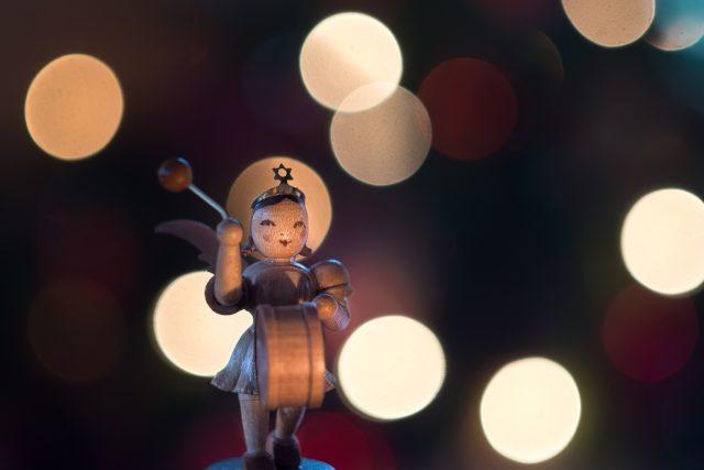 hudba, světlo, dřevo, loutka, muzikant, Vánoce, koleda, koldy