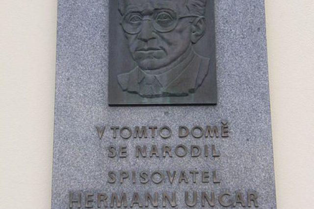 Hermann Ungar - pamětní deska v Boskovicích