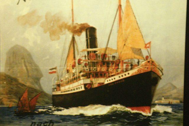 Plakát z přístavu v Hamburku