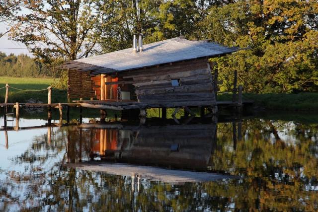 Dobčické rybníky v jižních Čechách: chata Verunka