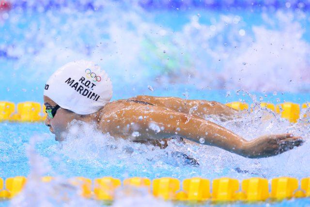 Yusra Mardini závodí na olympiádě v Riu