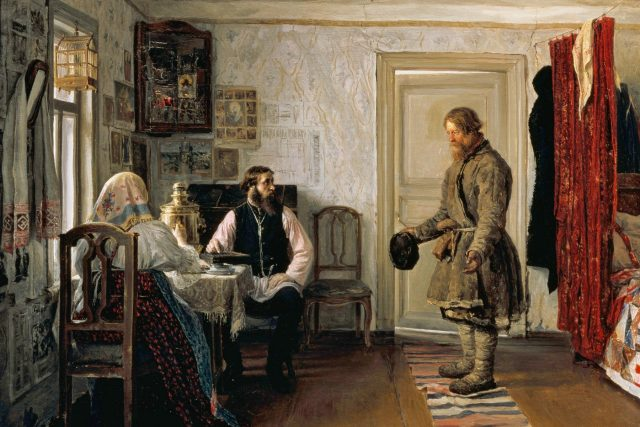 Zúčtovnání, olej na plátně, Ivan Bogdanov (1855–1932)