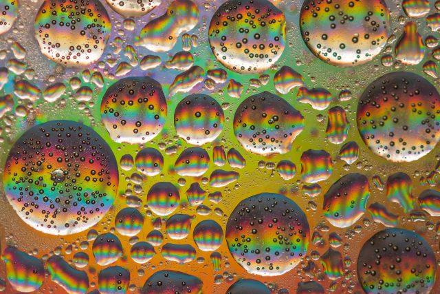 kapky, bubliny, nálada