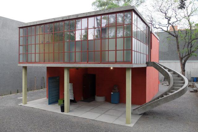 Ateliér Cecila O'Gormana v Mexico City, architekt Juan O'Gorman