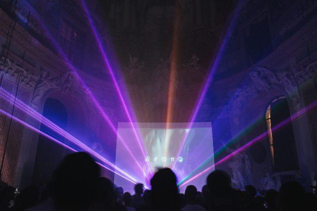 Audiovizuální performance na festivalu PAF Olomouc 2017