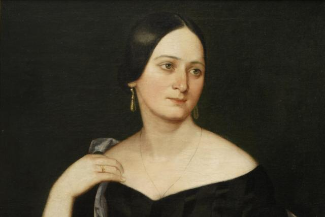 Josef Hellich: portrét Boženy Němcové, 1845