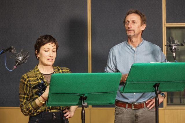 Natáčení hry Misantrop, Kamil Halbich a Helena Dvořáková