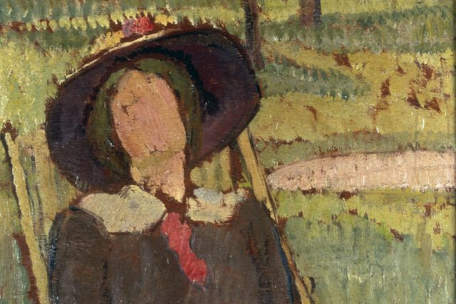 Vanessa Bell: Virginia Woolfová na lehátku  (cca 1912,  olej na kartonu,  35, 5 × 24 cm. Kunsthandel London,  Sotheby's) | foto: Profimedia