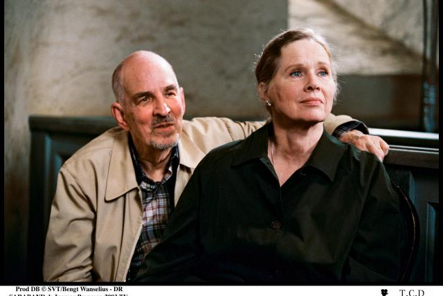 Ingmar Bergman a Liv Ullmannová (natáčení televizního filmu Sarabanda, 2003)