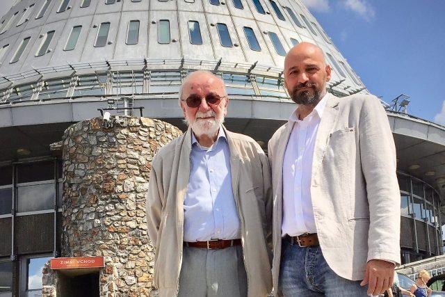 Architekt Otakar Binar a fotograf Jiří Jiroutek