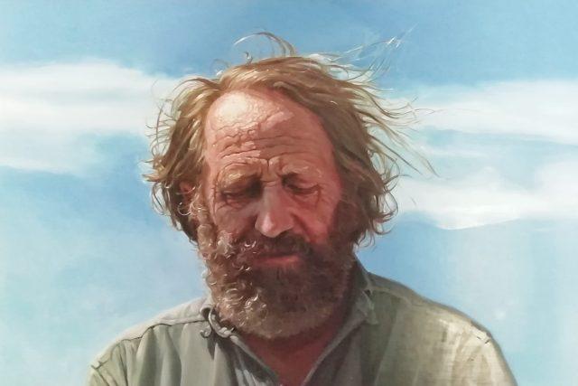 Mořeplavec Rudolf Krautschneider, olejomalba od Ladislava Vlny