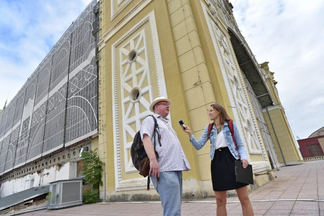Výstaviště Praha,  Richard Biegel a Veronika Štefanová | foto: Tomáš Vodňanský,  Český rozhlas